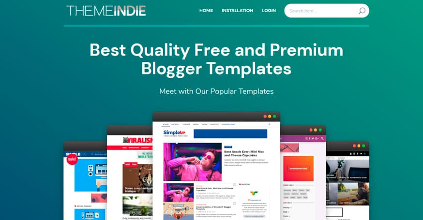 Themeindie, templates blogger desde indonesia