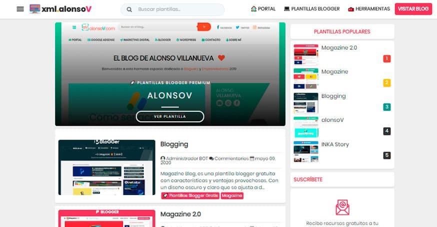 xml.alonsov.com, temas para tu blog