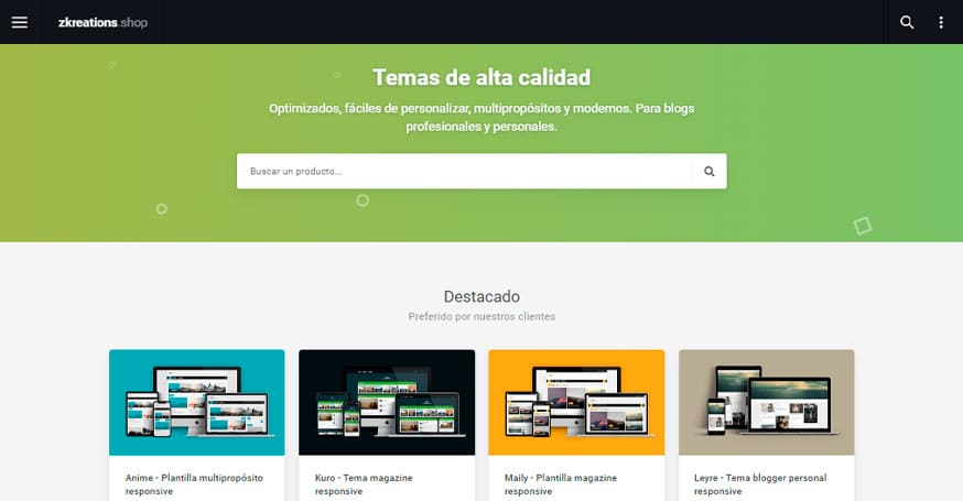 Zkreations, temasblogger en español