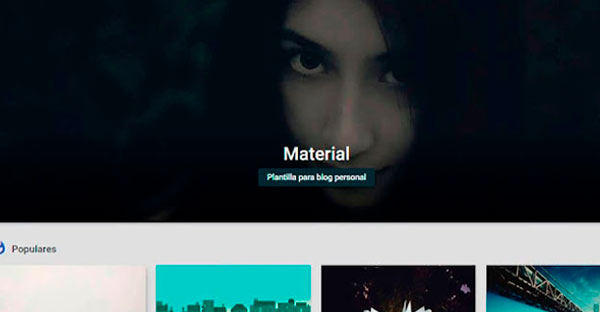 plantilla blogger Material Design