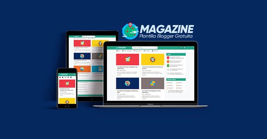 plantilla blogger magazine gratis