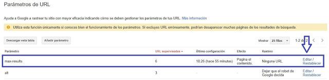 paso uno de search consoles Eliminar ?m=1 y ?m=0 de la URL en Blogger