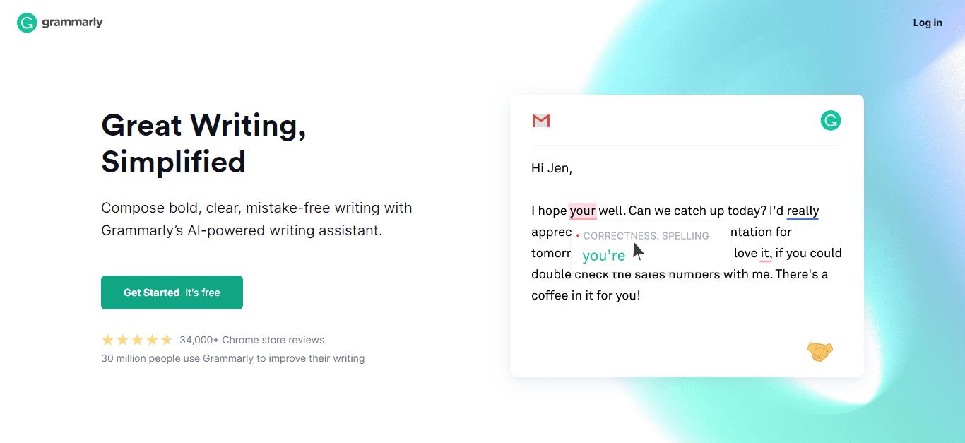 escribir un informe con grammarly