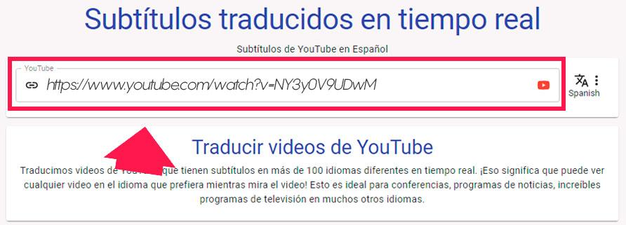 traducir videos youtube en tiempo real