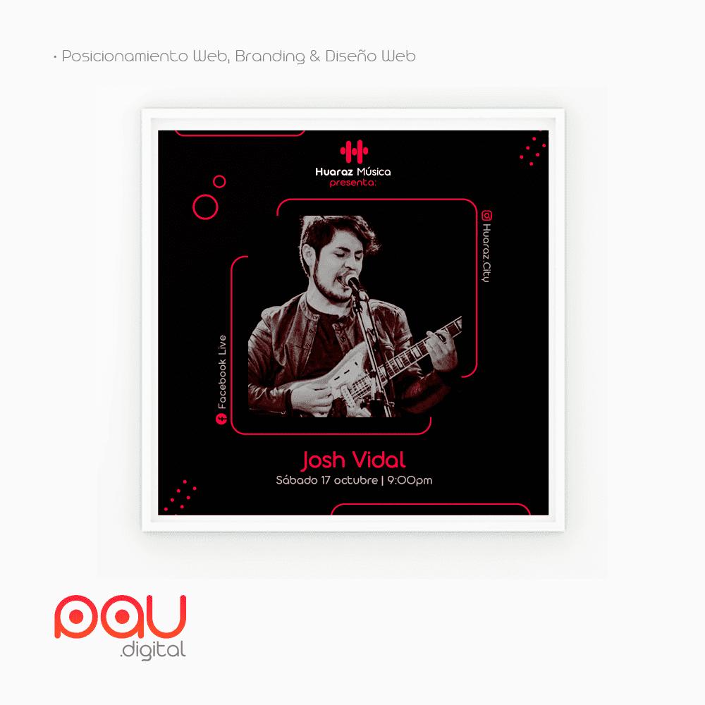 Diseño de afiche para Huaraz Música