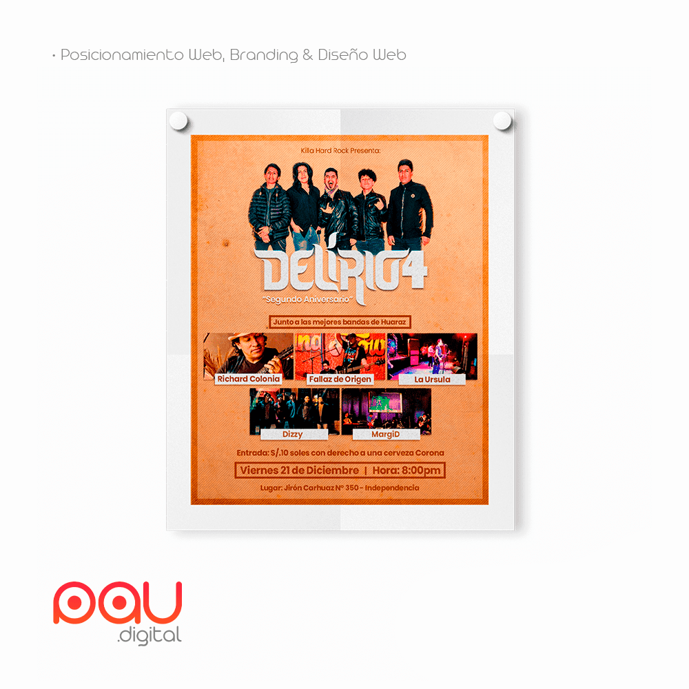 Afiche para concierto
